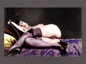 amateur photo Vintage glamour shot. [colorized]