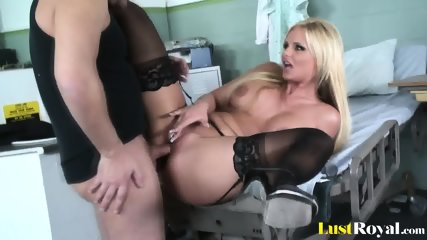 Handsome Doctor Giving Pretty Phoenix Marie A Facial