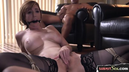 Cocksucking Asian Slave Gets Jizzcovered