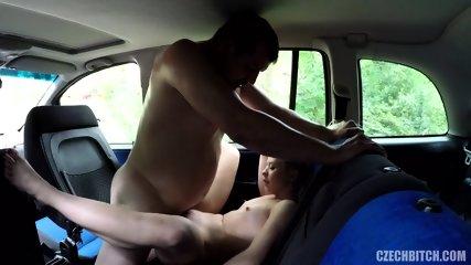 Blonde Slut Fucked In Car