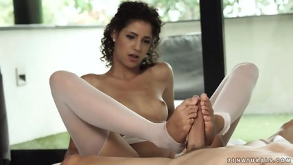 Footsie Chick With Stockings