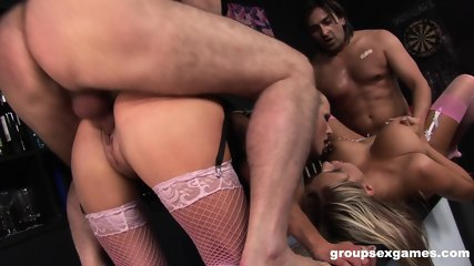 Group Sex In Bar